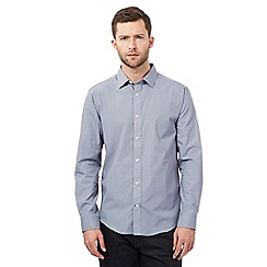 The Collection - Grey triangle print tailored fit shirt