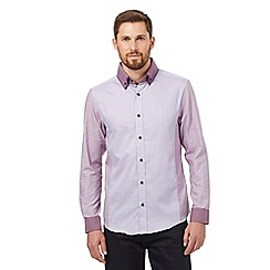 The Collection - Big and tall purple long sleeved shirt