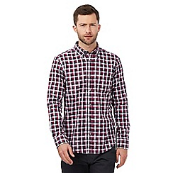 The Collection - Dark pink gingham checked print shirt