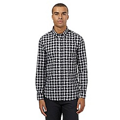 The Collection - Grey gingham checked print shirt