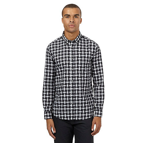 The Collection Big And Tall Grey Gingham Checked Print