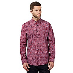The Collection - Big and tall red dandelion print shirt