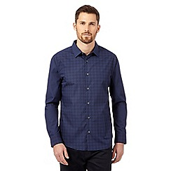 The Collection - Navy diamond print shirt