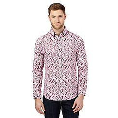 The Collection - Big and tall red floral print shirt