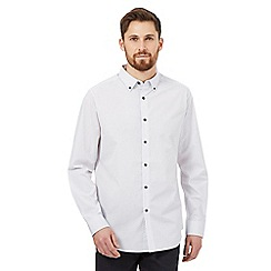 The Collection - Big and tall white dotted print shirt