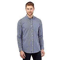 The Collection - Big and tall blue long sleeved gingham shirt