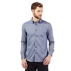 The Collection - Big and tall blue scribble print shirt