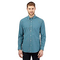 The Collection - Big and tall light green gingham shirt