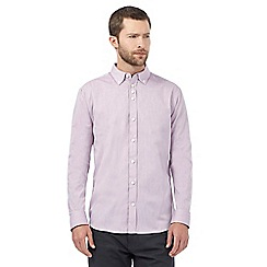 The Collection - Big and tall pink buttoned tonic shirt