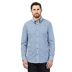 The Collection - Blue grid check print shirt