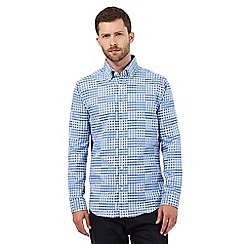 The Collection - Blue variegated checked print tailored fit shirt