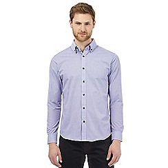 The Collection - Big and tall purple checked print shirt
