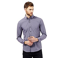 The Collection - Big and tall purple fine striped print shirt