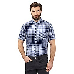 The Collection - Big and tall navy checked shirt