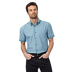 The Collection - Big and tall blue textured shirt
