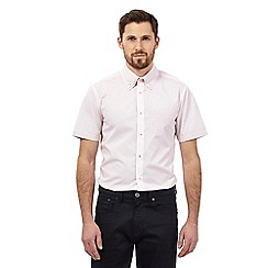 The Collection - Pink grid spot print tailored fit shirt