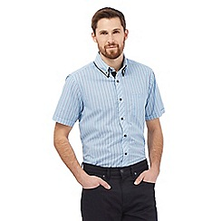 The Collection - Blue check short sleeve shirt
