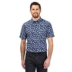 The Collection - Navy floral print tailored fit shirt
