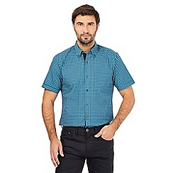 The Collection - Big and tall turquoise square print shirt