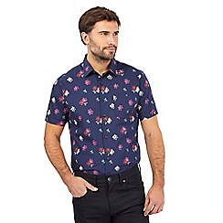 The Collection - Navy floral print shirt