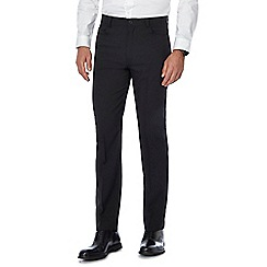 The Collection - Big and tall black flat front tailored trousers