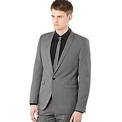 Red Herring Red Line - Big and tall grey pin dot suit jacket