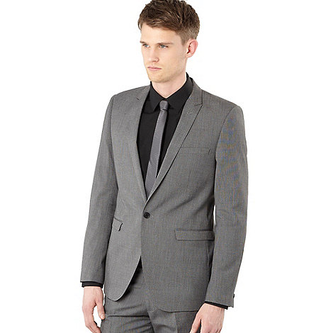 Red Herring Red Line - Grey pin dot suit jacket