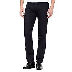 The Collection - Big and tall dark blue rinse slim fit jeans