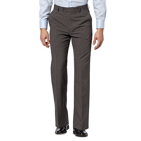 Thomas Nash - Big and tall light grey formal trousers