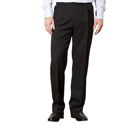 Thomas Nash - Black smart herringbone trousers