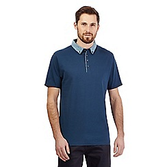The Collection - Dark turquoise double collar polo shirt