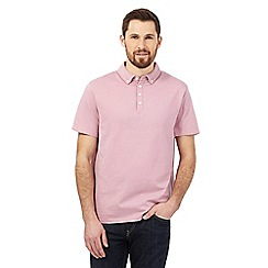 The Collection - Pink textured dot polo shirt