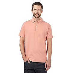 The Collection - Big and tall light orange pin dot print polo shirt