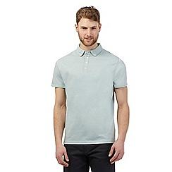 The Collection - Light green pin dot print polo shirt