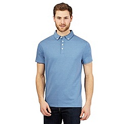 The Collection - Blue textured dot polo shirt