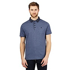 The Collection - Big and tall blue star print polo shirt