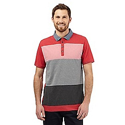 The Collection - Red stripe printed polo shirt