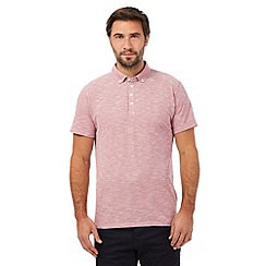 The Collection - Big and tall pink button down collar polo shirt