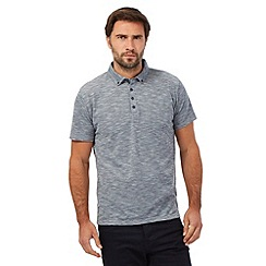 The Collection - Big and tall grey button down collar polo shirt