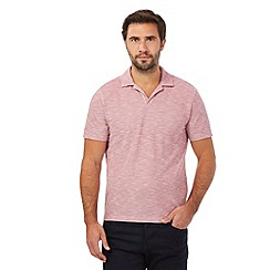 The Collection - Big and tall pink textured polo shirt