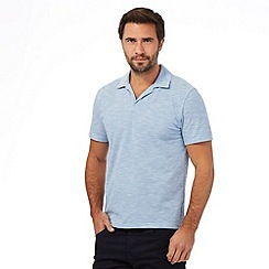 The Collection - Blue textured polo shirt