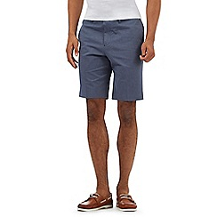 The Collection - Blue cotton birdseye print chino shorts