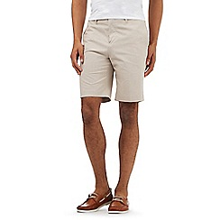 The Collection - Big and tall light tan chino shorts