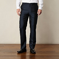 Thomas Nash - Big and tall navy tonic striped tailored trousers