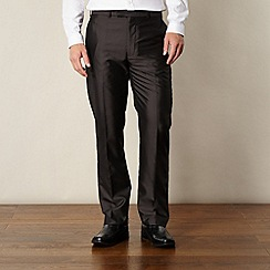 Thomas Nash - Big and tall dark grey tonic striped trousers