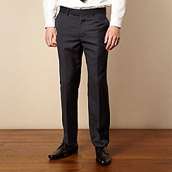 Red Herring Red Line - Navy wool blend tailored suit trousers