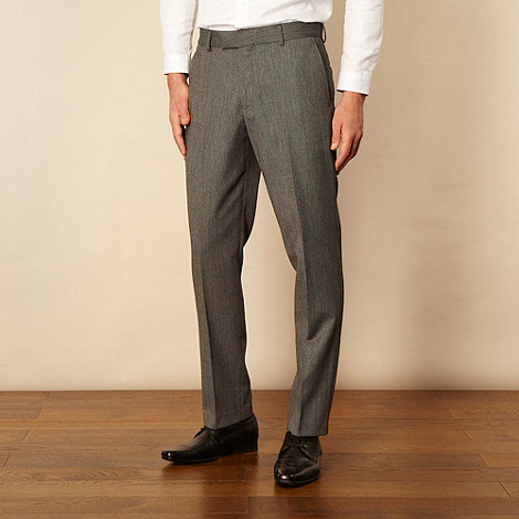 Red Herring Red Line - Grey mottled suit trousers