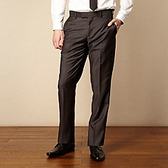 Red Herring Red Line - Black pinstriped tailored suit trousers
