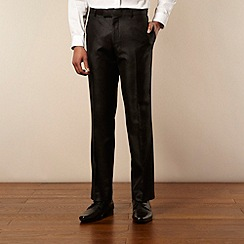 Red Herring Red Line - Black chintz tailored suit trousers