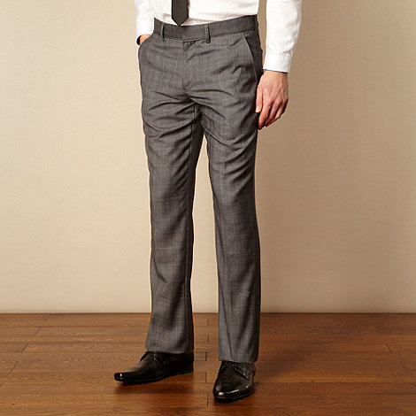 Red Herring Red Line - Grey fine checked tailored suit trousers